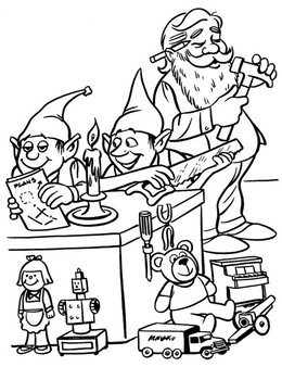 download santas workshop coloring clipart santa claus christmas coloring pages coloring book