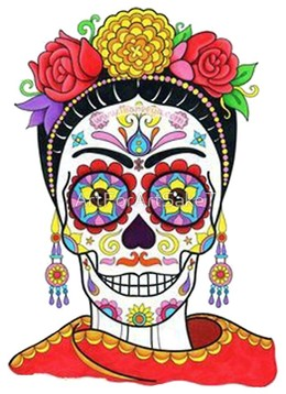 Download frida kahlo day of the dead clipart Calavera Day of the ...