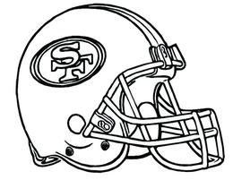 KissClipart 49ers Helmet Coloring Pages Clipart San Francisco Green Bay Packers NFL Download Thank You For Downloading