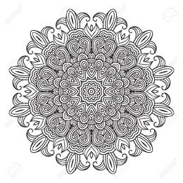 Download Complex Flower Coloring Pages Clipart Book Mandala The Ancient Alchemy Celtic Buddhist And Symbols For Everyday Calm