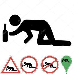 Download Drunk Crawling Stick Figure Clipart Alcohol Intoxication Clip Art