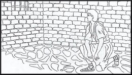 Download joseph in prison coloring page clipart Coloring book Bible ...