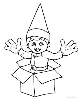 download elf coloring pages clipart the elf on the shelf santa claus christmas elf