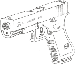 Glock Background clipart - Drawing, Gun, Product