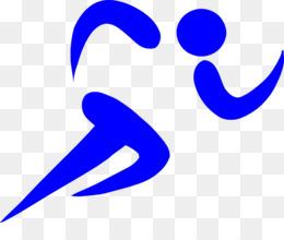 Sports running. Download stick figure clipart