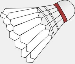 dessin d'un volant de badminton